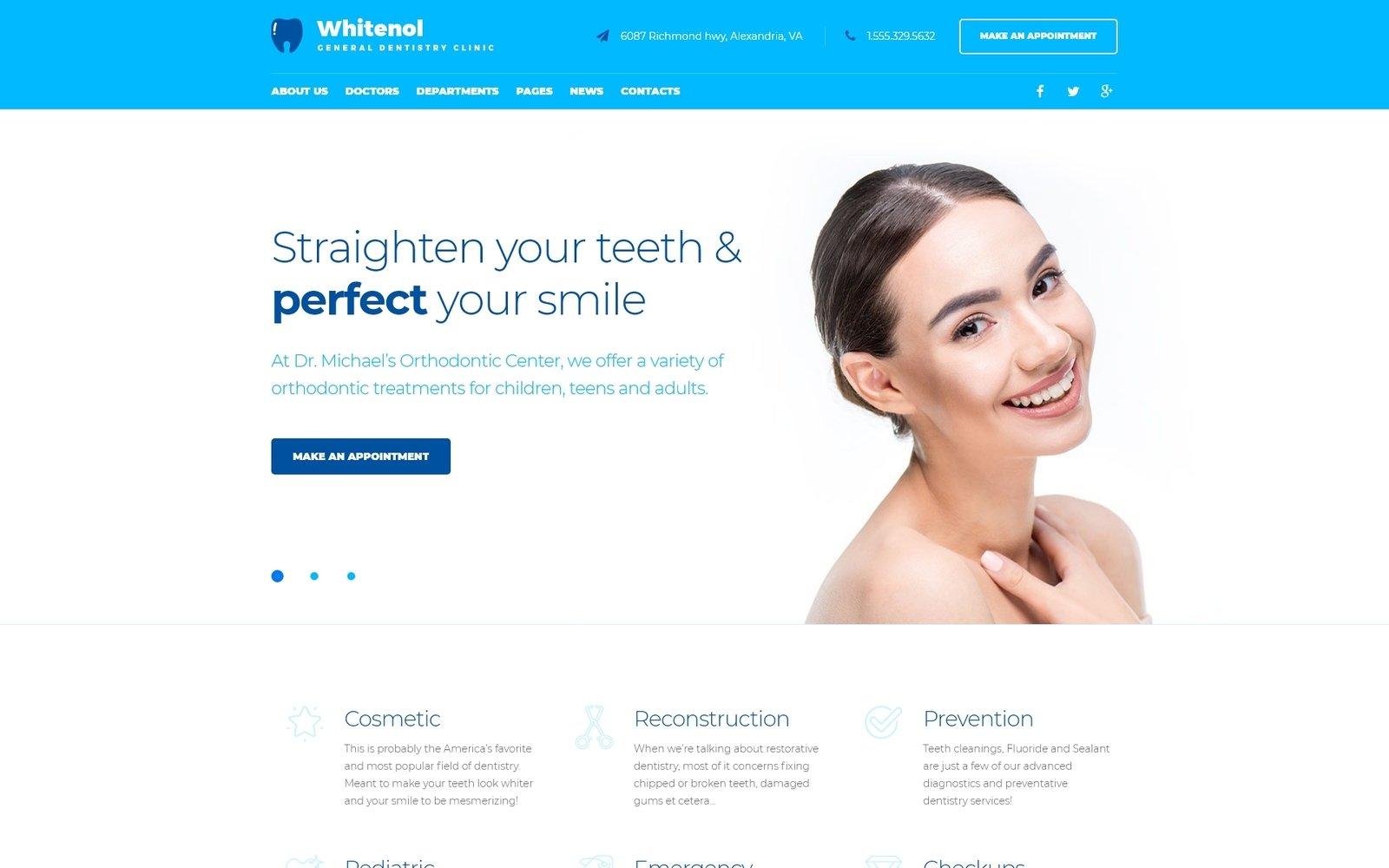 Адаптивный шаблон сайта на тему стоматология #64127