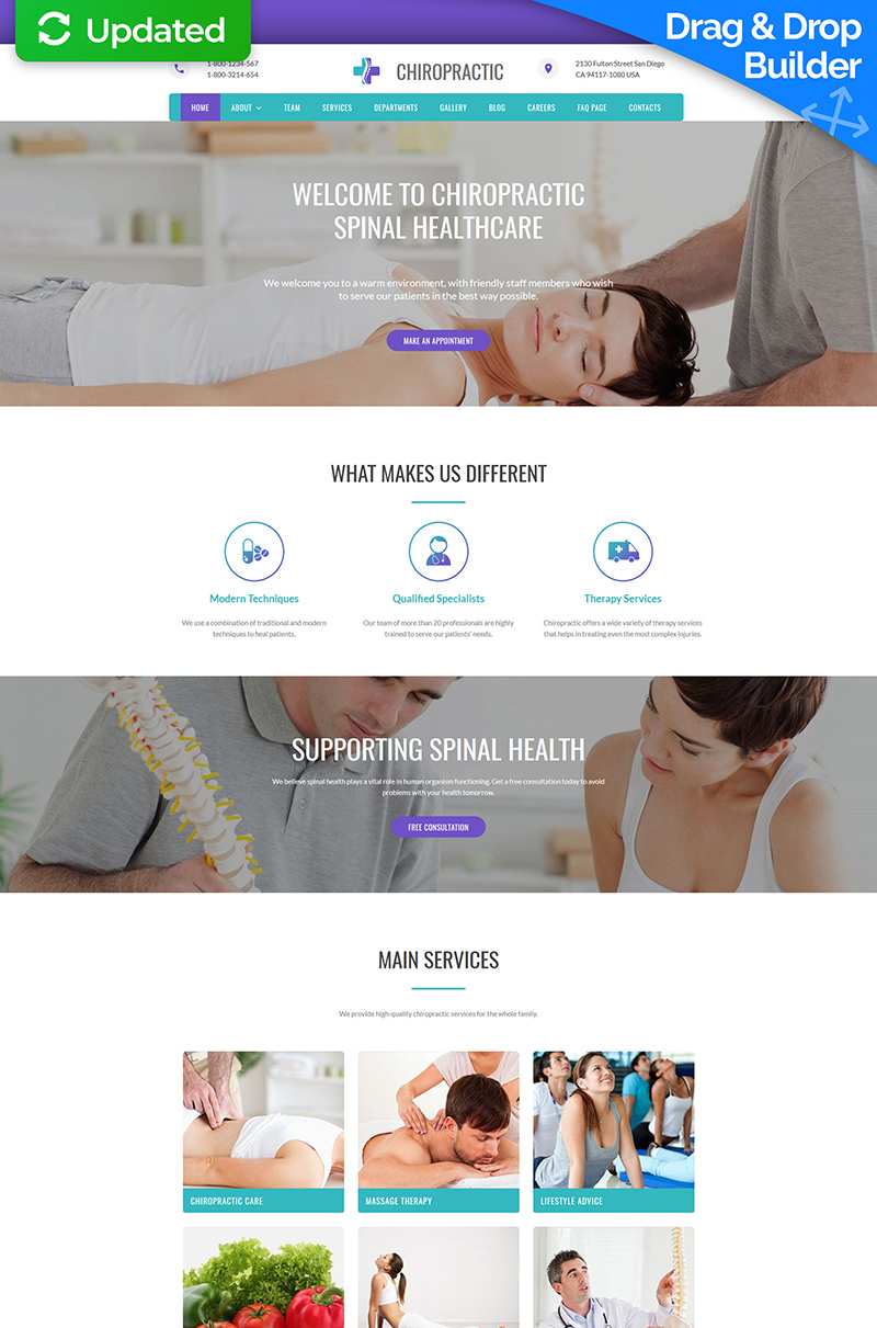 Alternative Medicine Responsive Moto CMS 3 Template