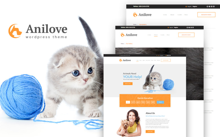 Anilove WordPress Theme New Screenshots BIG