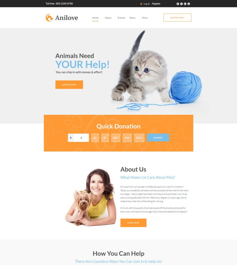 Anilove WordPress Theme