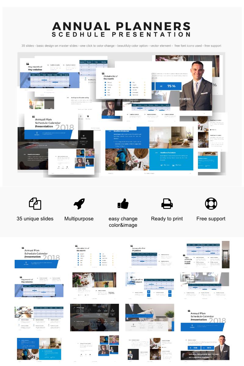 """Annual Planner Presentation 2018"" PowerPoint Template №64155"
