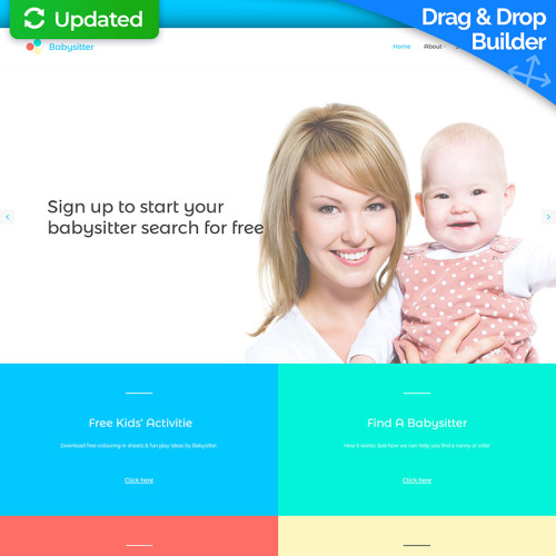 Babysitter - MotoCMS 3 Template based on Bootstrap