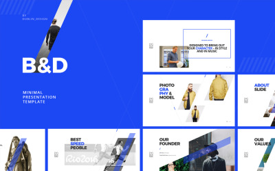 B&D - Creative Powerpoint Theme Powerpoint Template #64140