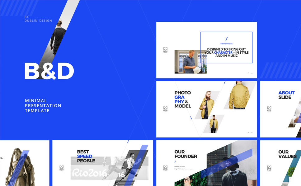 B&D - Creative Powerpoint Theme Template PowerPoint №64140
