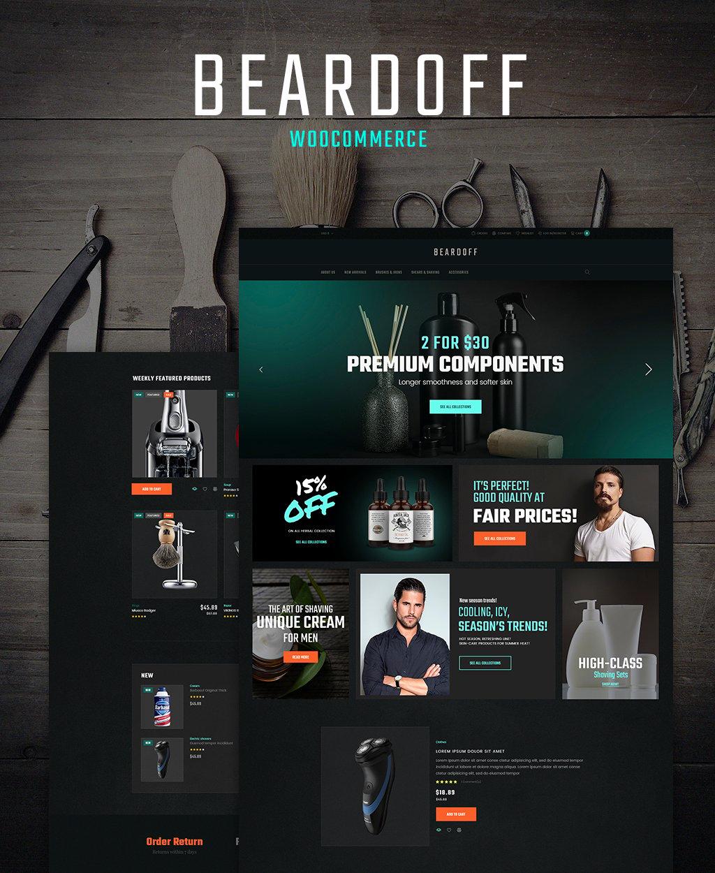 Beardoff - Men's Shaving Products Responsive WooCommerce Theme WooCommerce Theme - screenshot