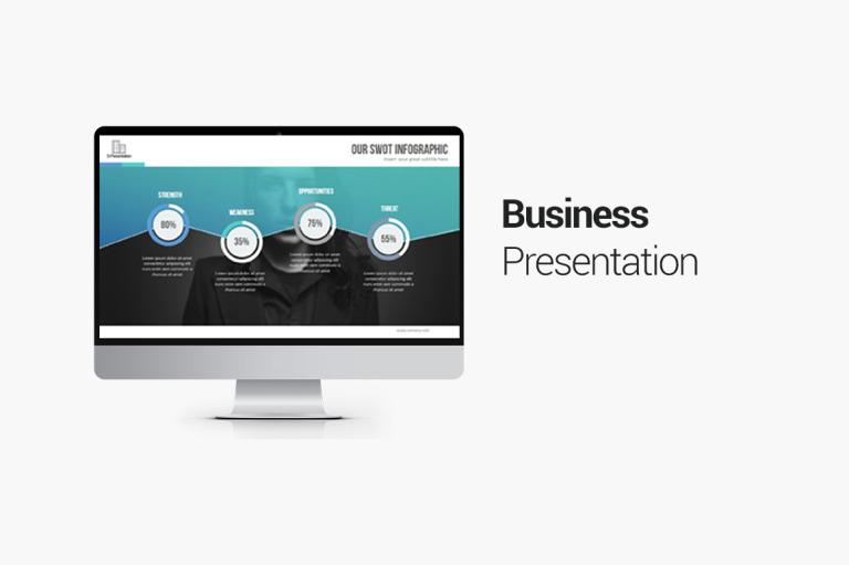 Business Presentation PowerPoint Template Big Screenshot