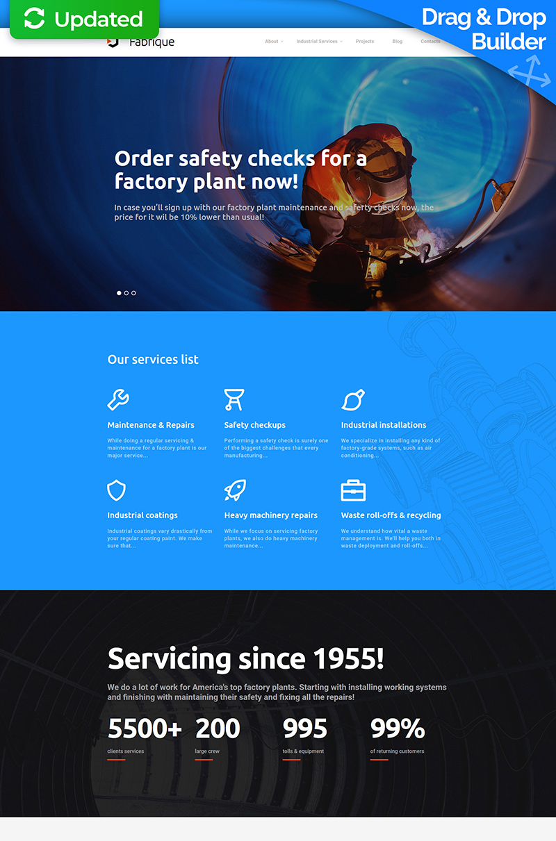 Civil Engineering Responsive Moto CMS 3 Template