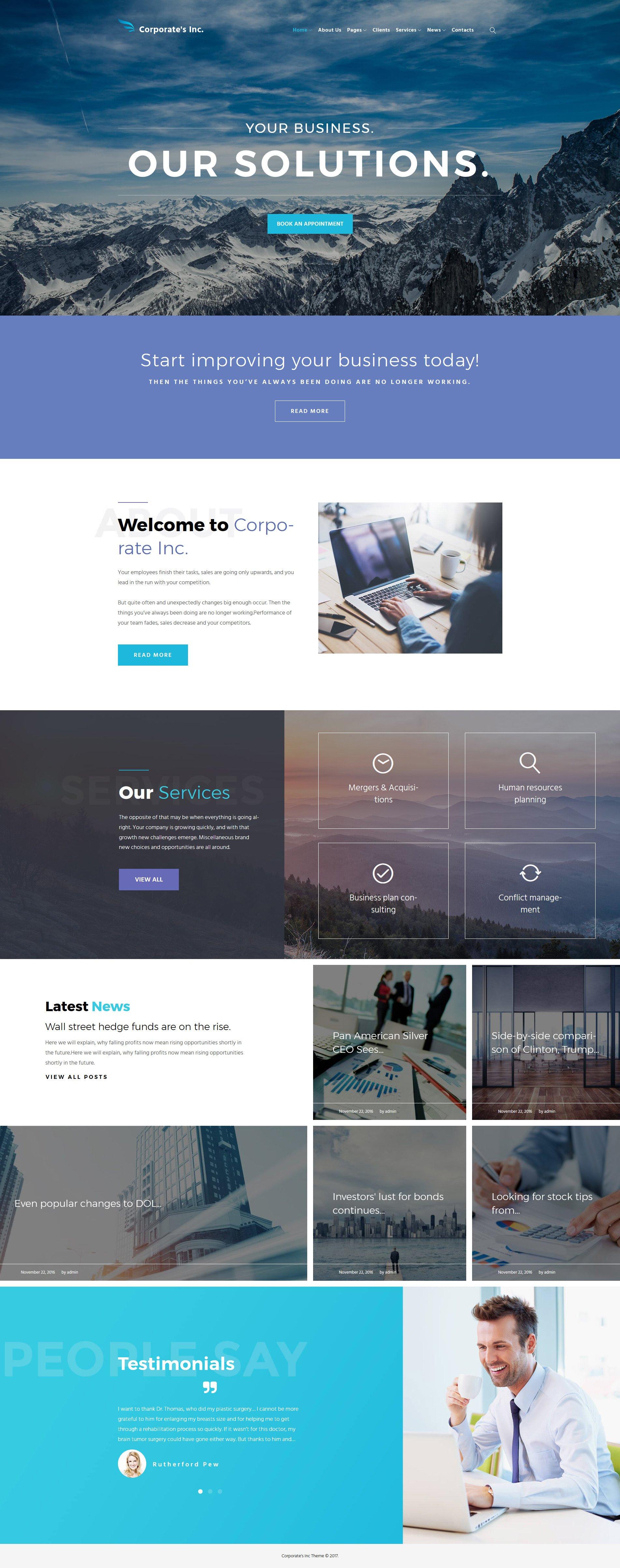 Corporate's Inc WordPress Theme - screenshot