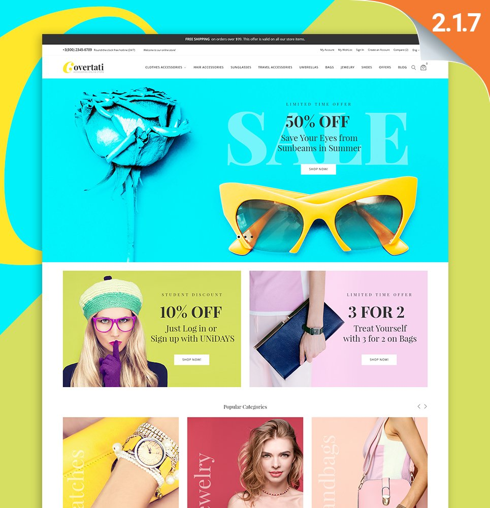 Covertati - Accessories Magento Theme - screenshot