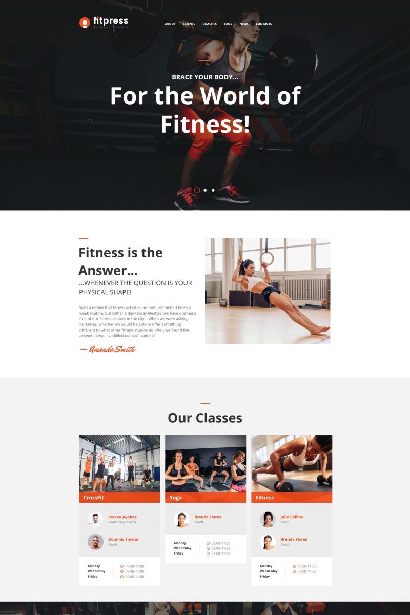 """Fitness & Gym"" Moto CMS HTML模板 #64193 - 截图"