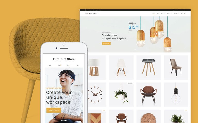 Furniture Store + Woocommerce WooCommerce Theme Big Screenshot