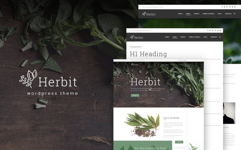 Herbit WordPress Theme New Screenshots BIG