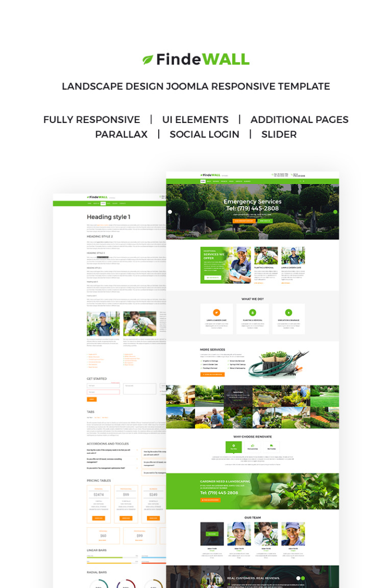 Landscape Design Responsive Joomla Template New Screenshots BIG