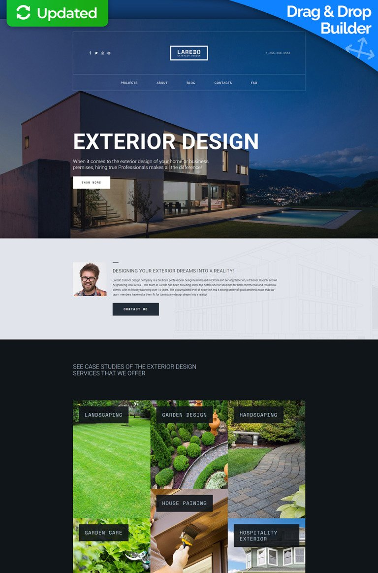 Laredo - Exterior Design Company Responsive Moto CMS 3 Template New Screenshots BIG