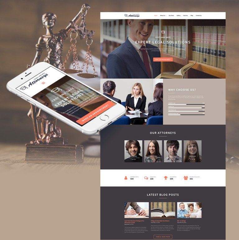Law Firm Responsive Moto CMS 3 Template New Screenshots BIG