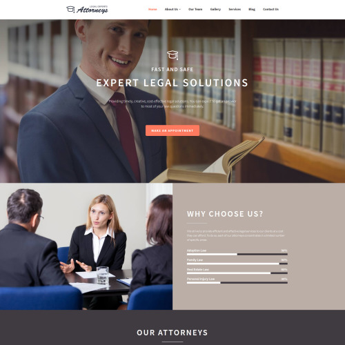 Law Firm - MotoCMS 3 Template based on Bootstrap