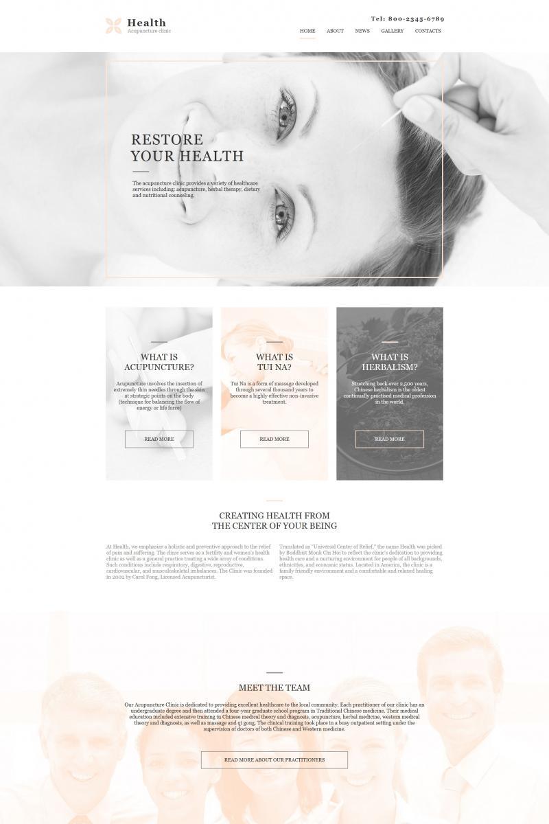 Modèle Moto CMS HTML pour site de médecine alternative #64194