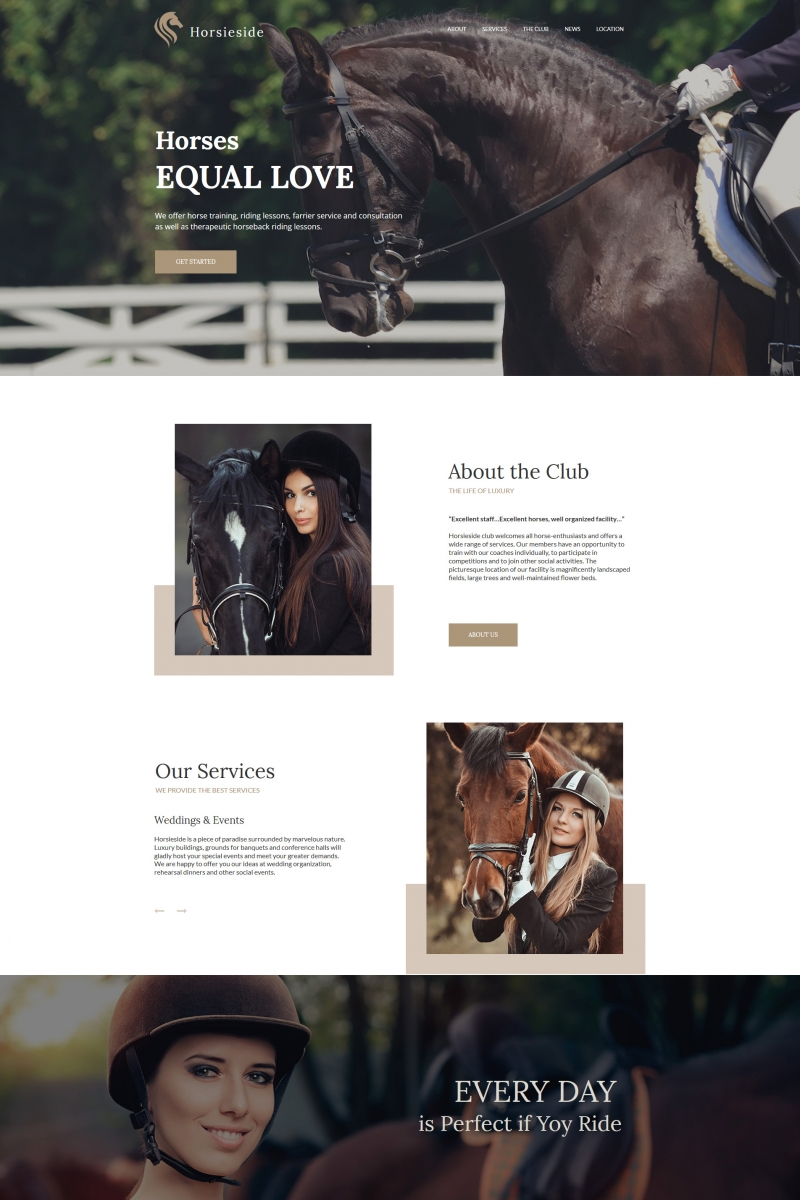 Moto CMS HTML Template over Paarden №64195