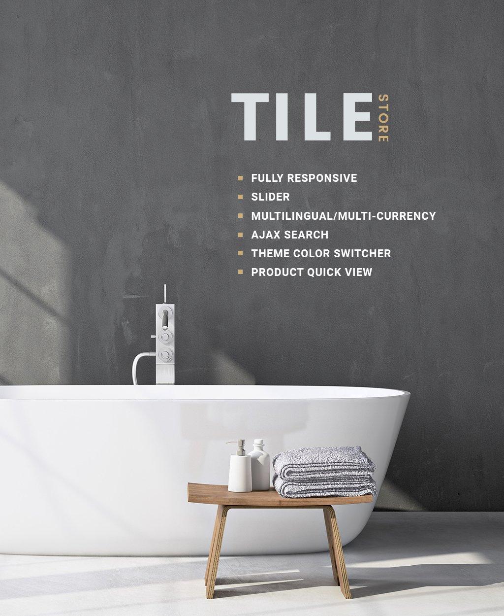 "OpenCart Vorlage namens ""Tile & Stone Responsive"" #64164"