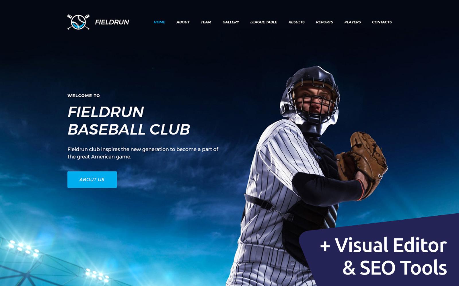 "Plantilla Moto CMS 3 ""Fieldrun - Baseball Club Premium"" #64198"