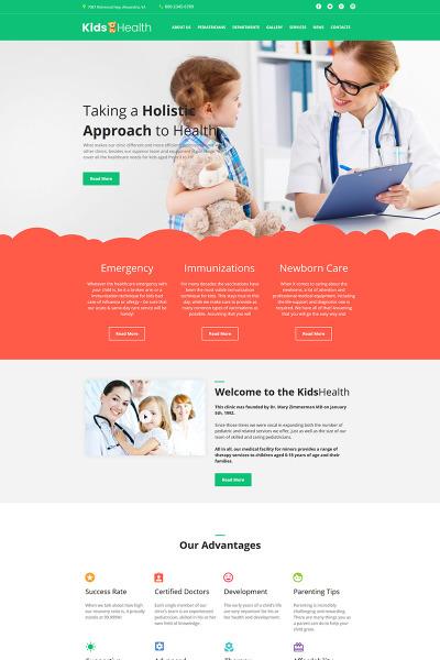 Plantilla Moto CMS HTML #64192 para Sitio de  para Sitio de Pediatras