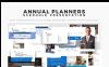 PowerPoint Templates - Annual Planner Presentation 2018 PowerPoint Template Big Screenshot