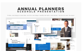 PowerPoint Templates - Annual Planner Presentation 2018 PowerPoint Template