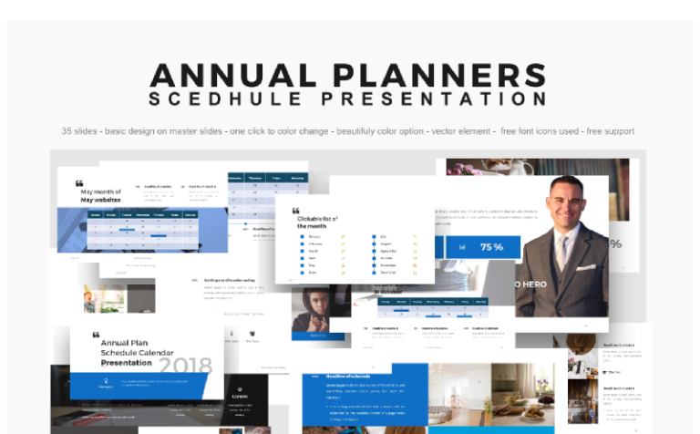 Powerpoint templates annual planner presentation 2018 powerpoint powerpoint templates annual planner presentation 2018 powerpoint template big screenshot toneelgroepblik Image collections