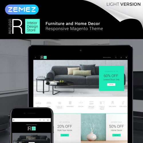Reflego - Furniture & Home Decor - HTML5 Magento Template