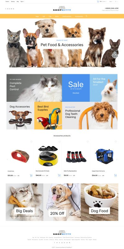 Pet Shop Responsive PrestaShop Motiv