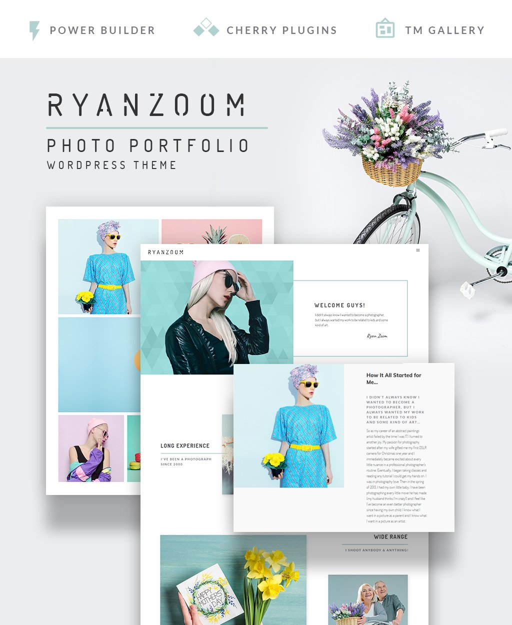 RyanZoom - Photographer Portfolio Responsive WordPress Theme - screenshot