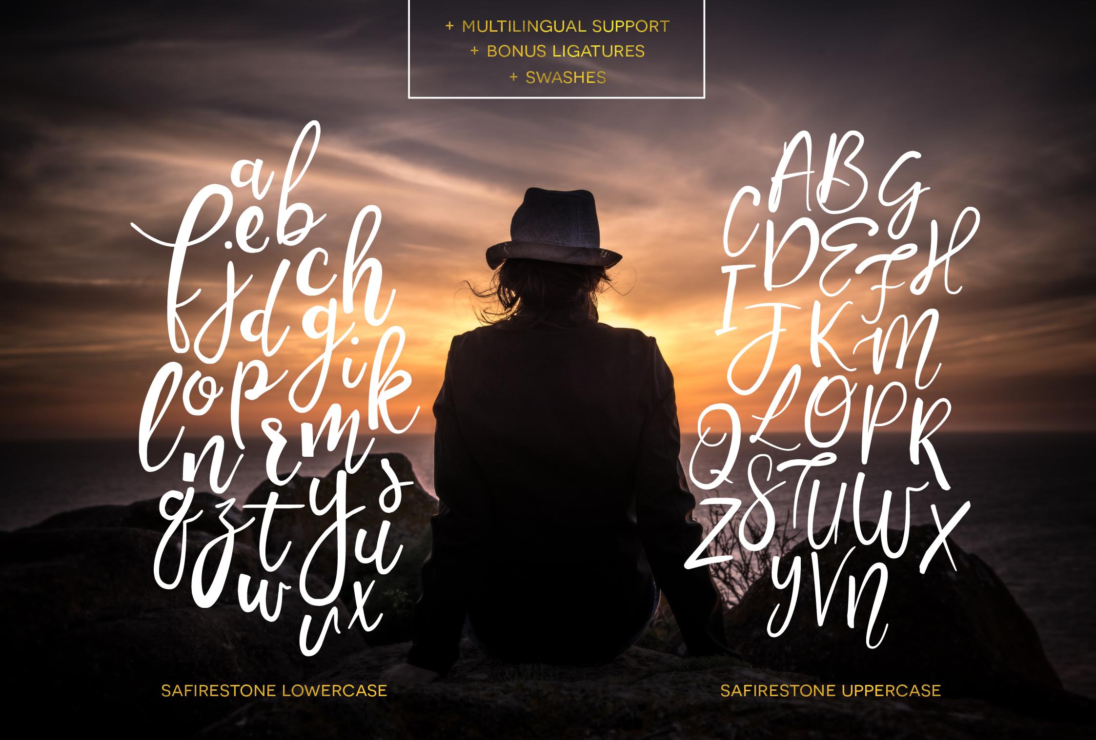 Safirestone Font Font