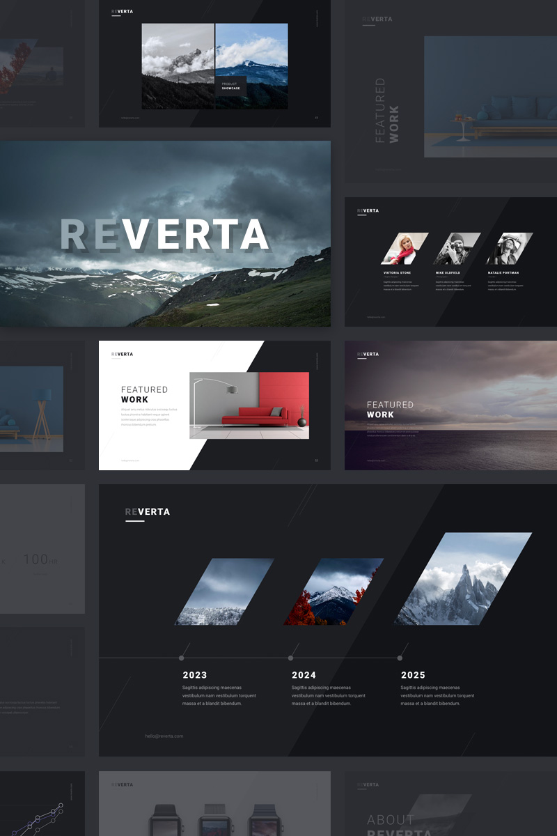 Szablon PowerPoint Reverta #64156 - zrzut ekranu