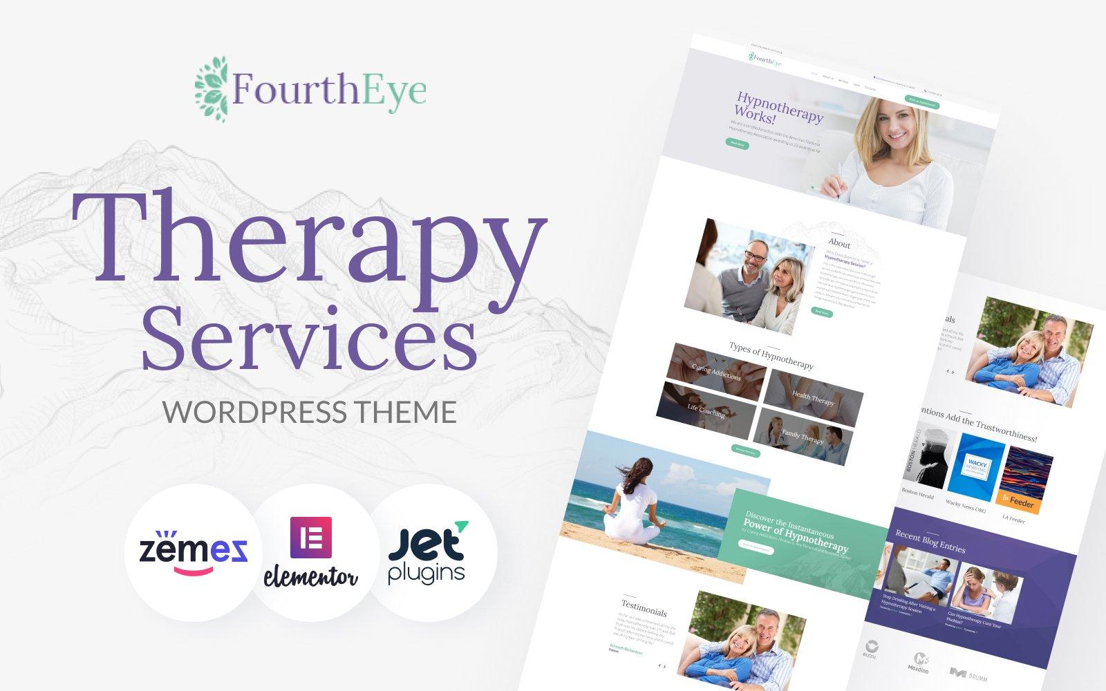 "Tema De WordPress ""FourthEye - Therapy Services Multipurpose Classic Elementor"" #64159"