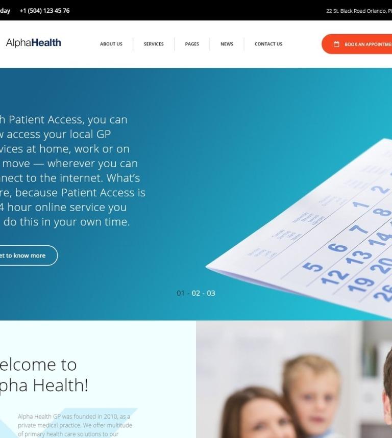 Tema de WordPress #64100 para Sitio de Médicos