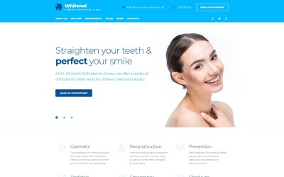 Responsive Tema De WordPress #64127 para Sitio de  para Sitio de Odontología