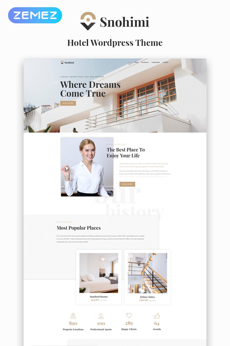 "Tema De WordPress ""Sanohimi Exotic Hotel WordPress Theme"" #64142 - captura de pantalla"