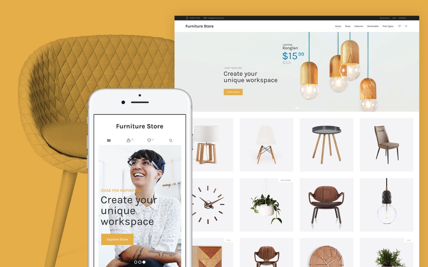 "Tema WooCommerce ""FurnitureStore -"" #64149"