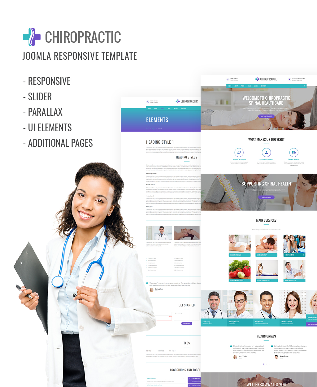 Template Joomla Flexível para Sites de Medico №64163