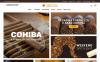 "Template Magento Responsive #64150 ""Snuficco - Tobacco & Cigars Store Responsive Magento 2 Theme"" New Screenshots BIG"