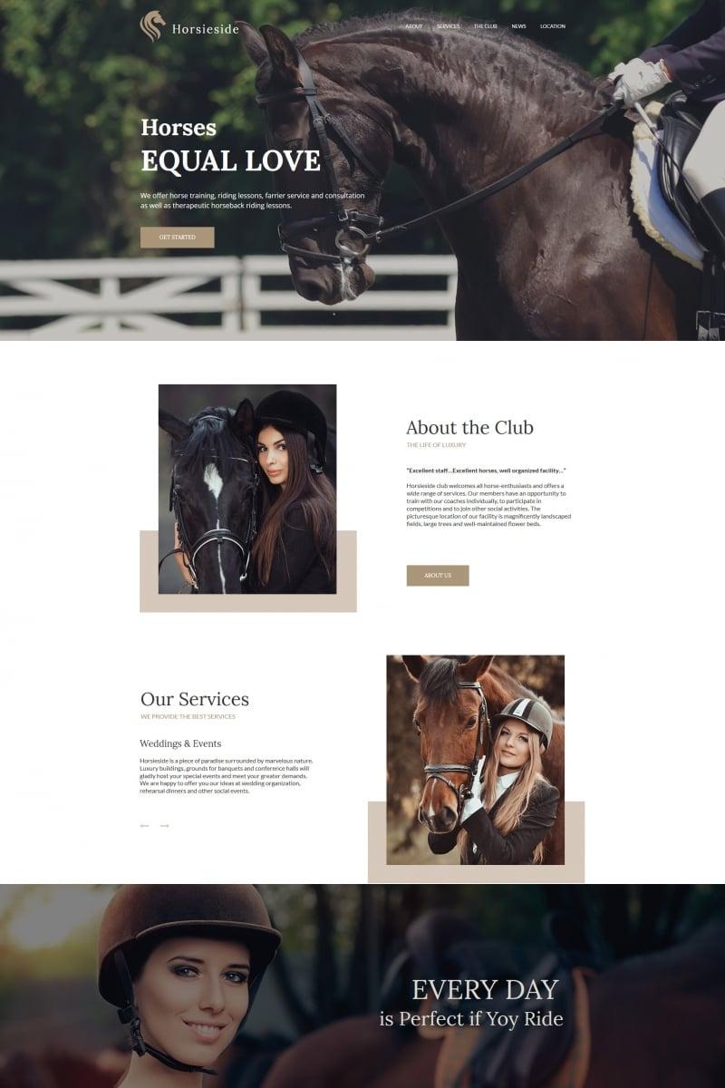 Template Moto CMS HTML para Sites de Cavalos №64195