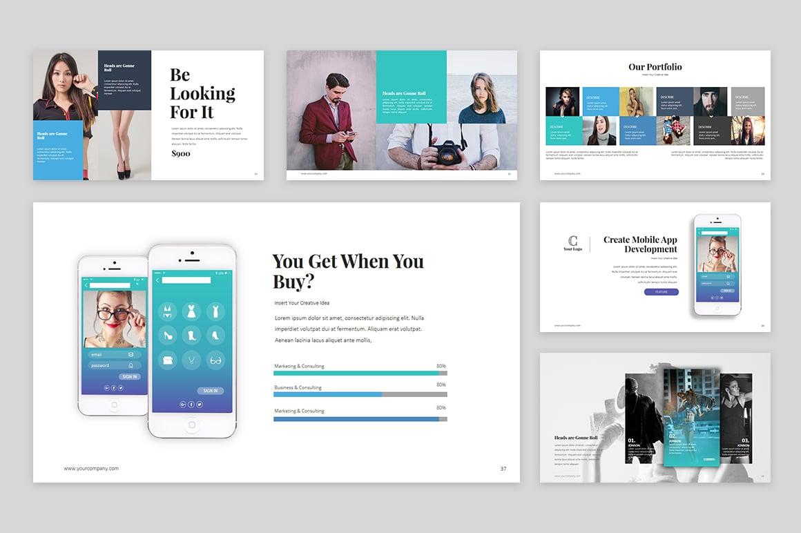 Template powerpoint para sites de agencia de marketing 64133 mais zoom toneelgroepblik Image collections