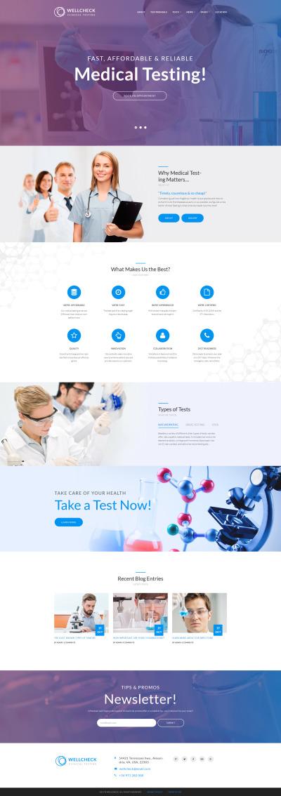Адаптивный WordPress шаблон №64121 на тему медицинское оборудование