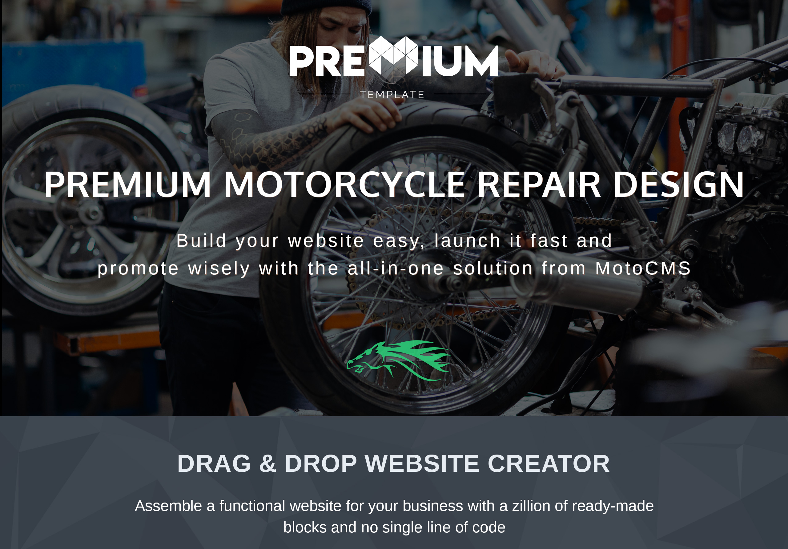 Horsepower - Motorcycle Repairs Premium Moto CMS 3 Template