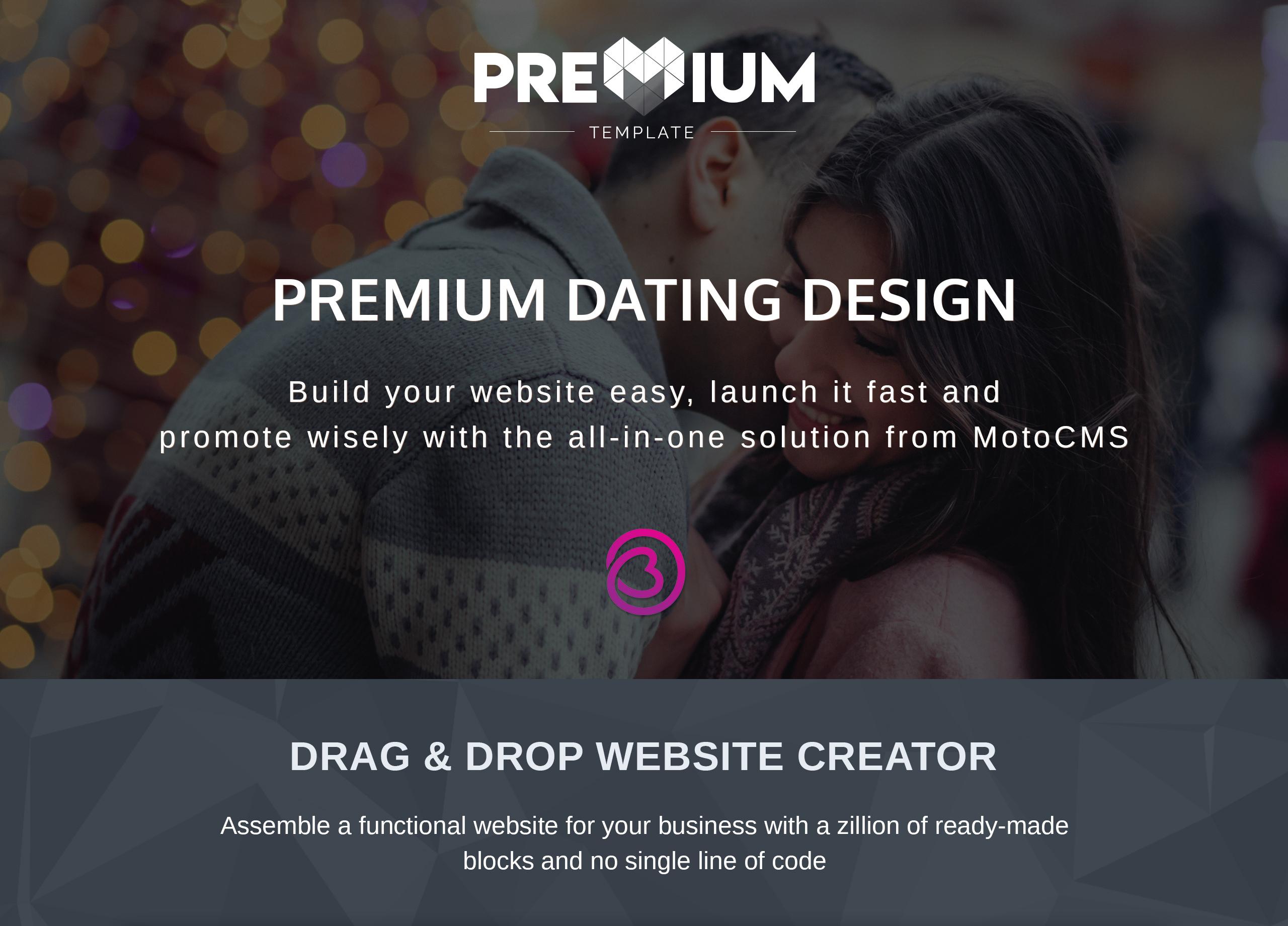 Datelletto - Dating Premium Moto CMS 3 Template