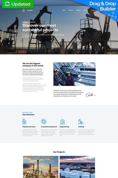 Gas & Oil Responsive MotoCMS 3 шаблон