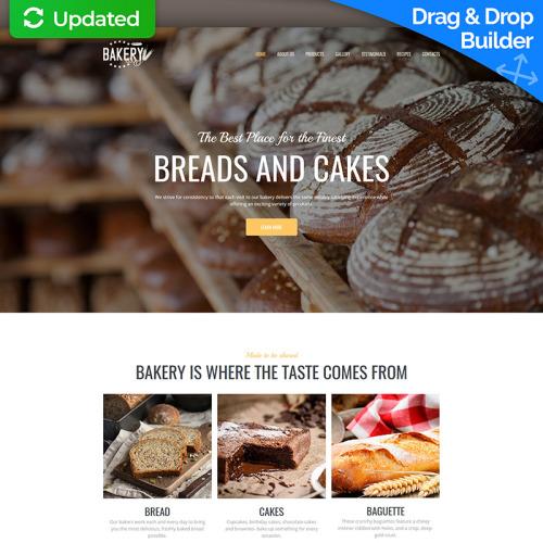 Bakery Premium - MotoCMS 3 Template based on Bootstrap