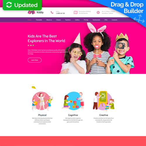 Kiddy - MotoCMS 3 Template based on Bootstrap