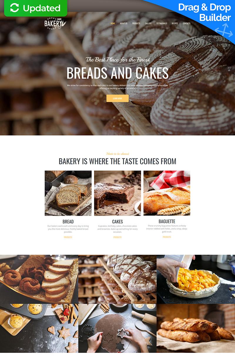 "Plantilla Moto CMS 3 ""Bakery Premium"" #64213"