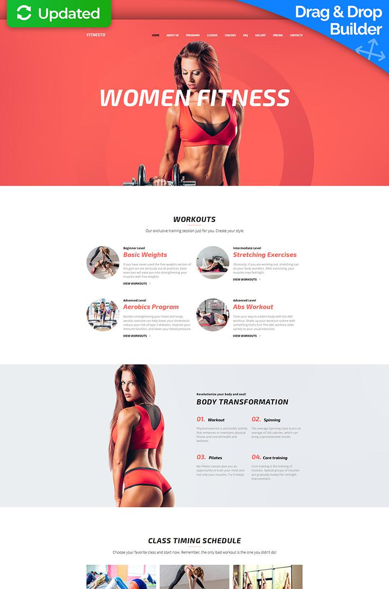 Responsive Fitnesto - Fitness & Gym Premium Moto Cms 3 #64206